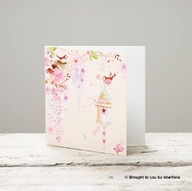 Pretty Flowers Blank Greetings Card